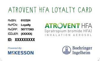 ATROVENT HFA loyalty card